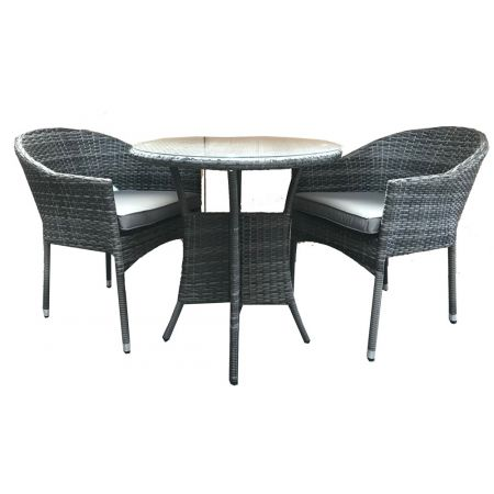Emira 2 Seat Bistro Set With Stacking Chairs