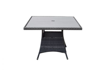Emira Square Table 100 x 100 With Polywood Top