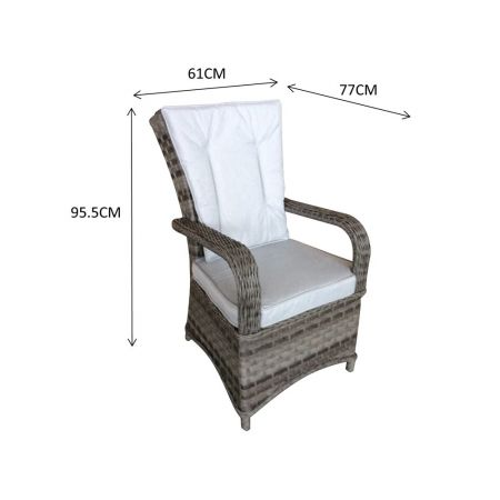 Franco Pair Of Dining Chairs Grey