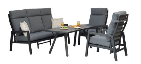 Kerona 5 Seat High Back Sofa Dining