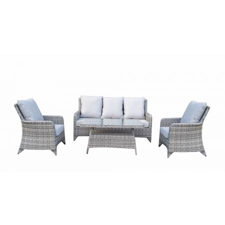 Shanice Grey 5 Seat Sofa Set With New Coffee Table Design
