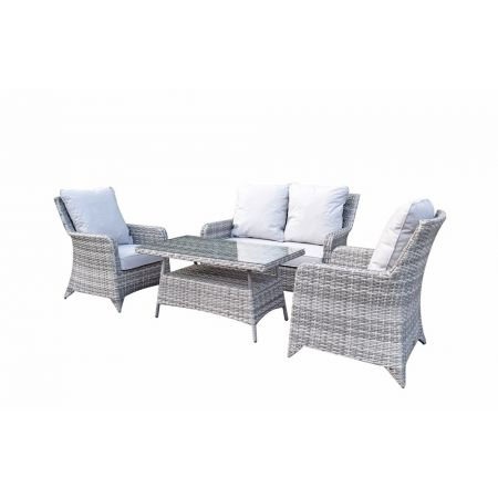 Shanice Nature 4 Seat Sofa Set With New Coffee Table Design