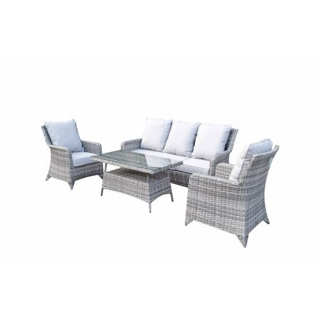 Shanice Nature 5 Seat Sofa Set With New Coffee Table Design