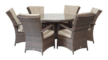 Franco 6 Seat Round In Brown