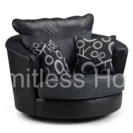 Briggs Swivel Chair Black and Grey