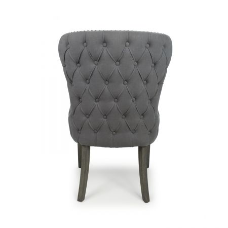 Xavier Sloping Back Solid Oak Antique Grey Accent Chair