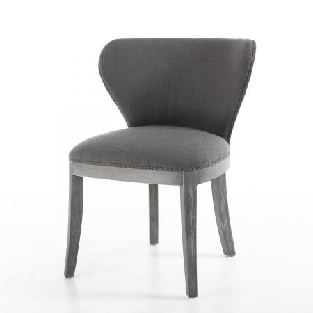 Autumn Linen Effect Antique Grey 2 Accent Chairs