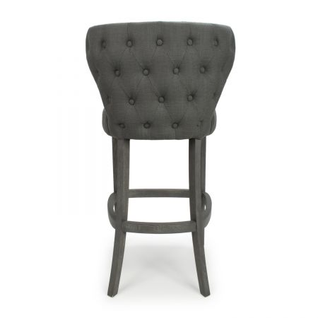 Autumn Linen Effect Antique Grey Bar Chair