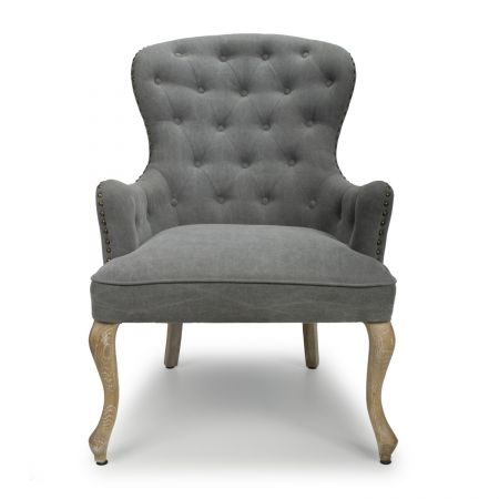 Xavier Sloping Back Dusky Cotton Stone Grey Accent Chair