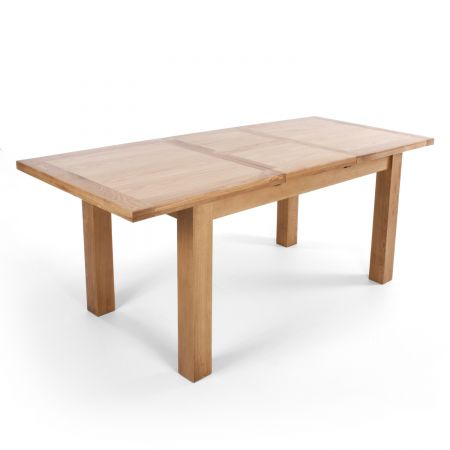 Illona Large Extendable Solid Oak Natural Dining Table