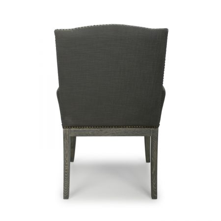 Remy Square Stud Solid Oak Antique Grey Accent Chair