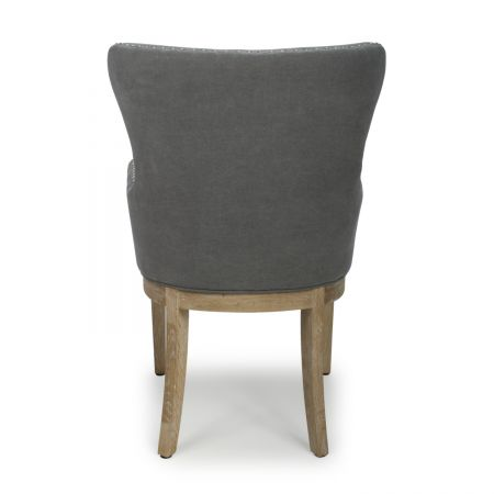 Isak Low Curved Wing Back Dusky Cotton Stone Grey Accent Chair