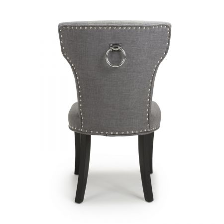 Matteo Linen Effect Steel Grey 2 Accent Chairs