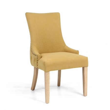 Maximilian Stonewash Effect Yellow 2 Accent Chairs