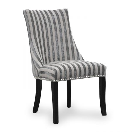Isla Velvet Stripe 2 Accent Chairs