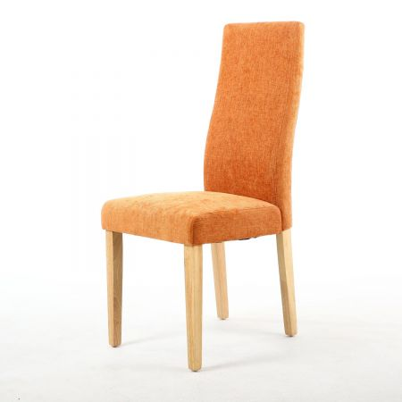 Ingrid Wave Back Linen Effect 2 Dining Chairs
