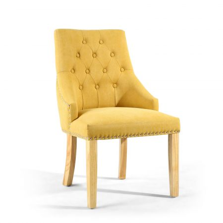 Logan Stonewash Effect Yellow 2 Accent Chairs