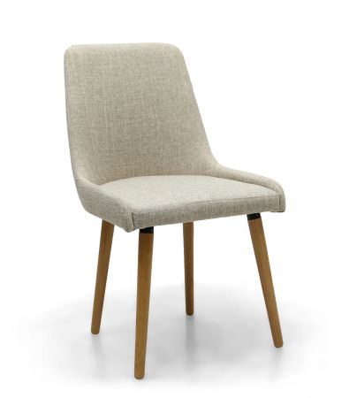 Michalina Flax Effect 2 Dining Chairs