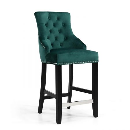 Emma Ring Back Brushed Velvet Bar Chair