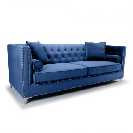 Kennedy 4 Seater Brushed Velvet Sofa