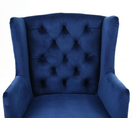 Alzbeta Brushed Velvet Accent Chair