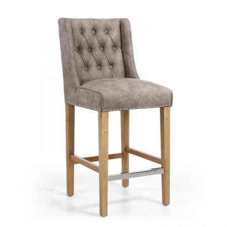 Paolo Suede Effect Bar Chair