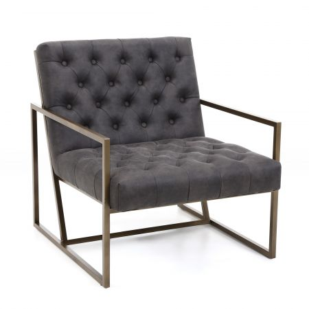 Eryk Suede Effect Armchair
