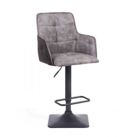 Florian Suede Effect 2 Bar Stool