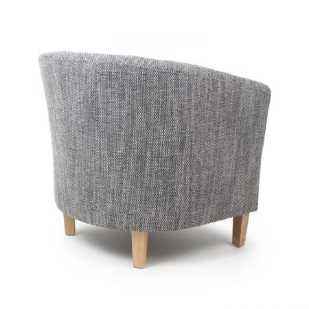 Marcel Tub Tweed Chair & Stool Set