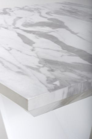 Santos Marble Effect Grey/White Lamp Table