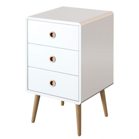 Soutend White 3 Drawer Chest
