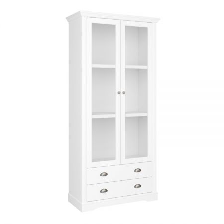 Veriena - White 2 Dr 2 Drawer Display Cabinet