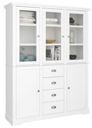 Veriena - White 5 Dr 4 Drawer Display Cabinet