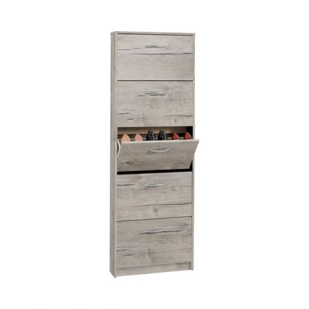 Vices 5 Shoe Cabinet With 5 Oak