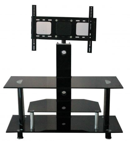 Buckingham Tv201 Tv Stand With Lcd Bracket And 3 Black Glass Shelves