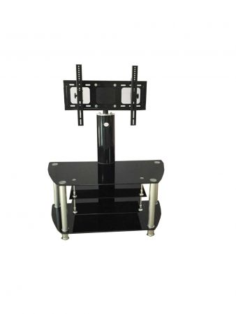 Crock Ts12082A Tv Stand With Lcd Bracket And 4 Black Glass Shelves