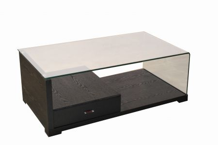 Miland Ct5170 One Drawer Coffee Table Black