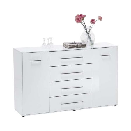 Jules 6 Up Chest With 2 Doors And White
