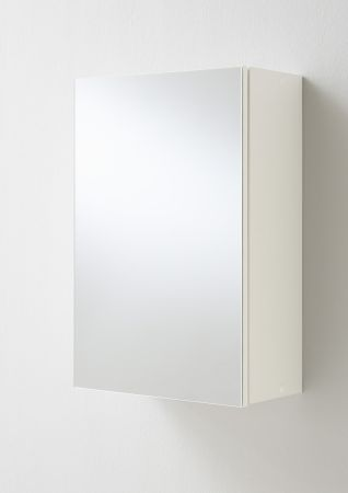 Elma Mirrored Cabinet White