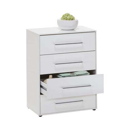Jules 1 Up Chest With 4 Drawers White