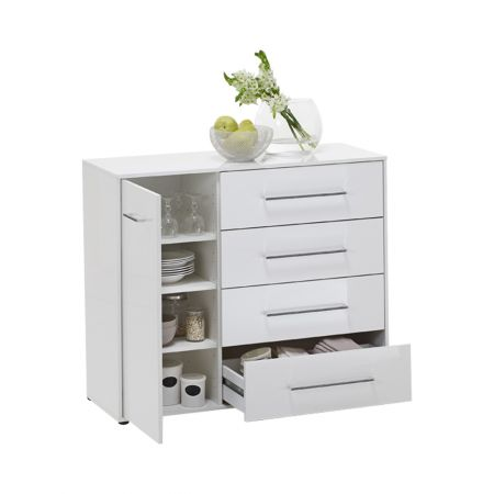 Jules 3 Up Chest With 1 Door And White