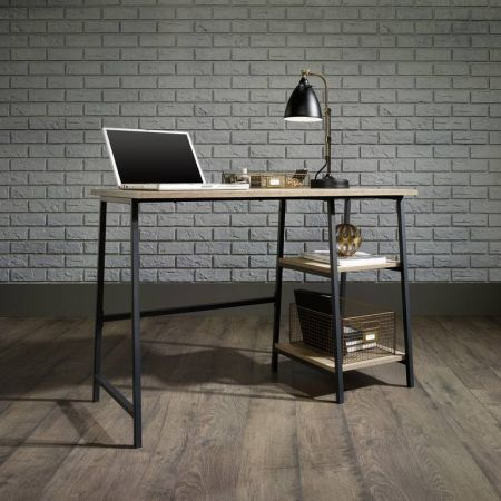 Industrial Style Bench Desk Oak