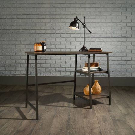 Industrial Style Bench Desk Smoked Oak