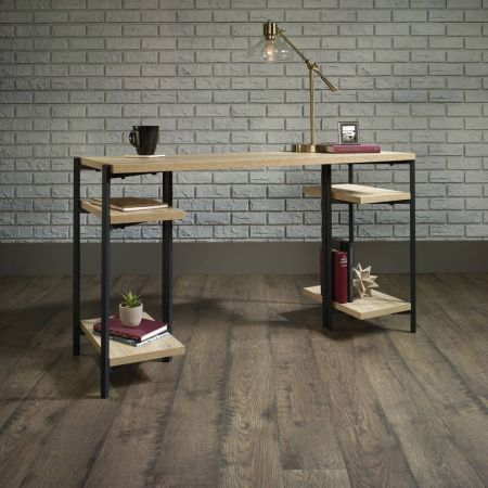 Industrial Style Chunky Bench Desk Oak
