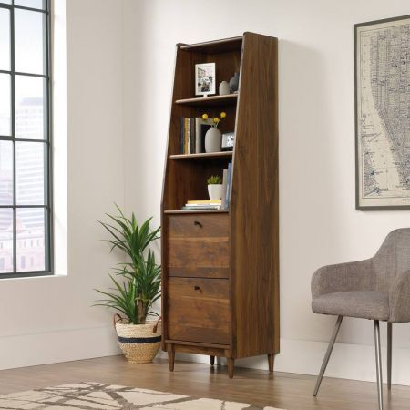 Hampshire Park Narrow Bookcase Walnut