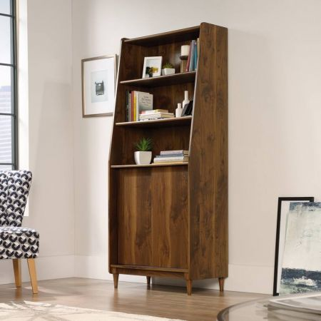Hampshire Park Wide Bookcase Walnut