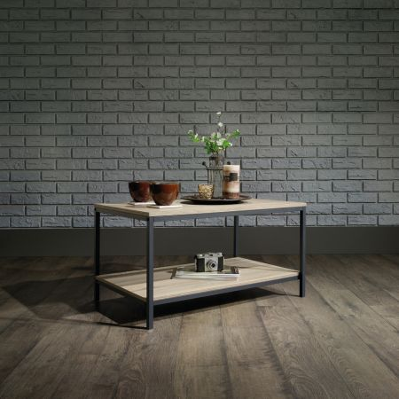 Industrial Style Coffee Table Oak