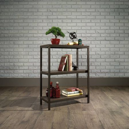 Industrial Style 2 Shelf Bookcase Smoaked Oak