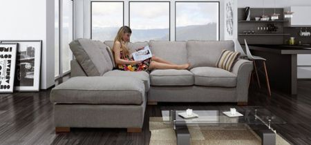 Hurracan Corner Formal Sofa And Footstool