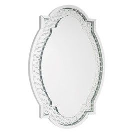 Liverpool Oval Mirror Silver